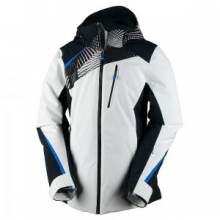 Kitzbuhel Insulated Ski Jacket Women's, White/Optic Print/Stellar Blue, 10