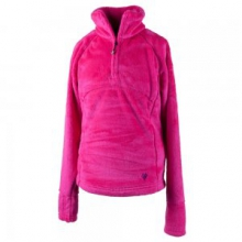 Furry Fleece Top Girls', Electric Pink, S