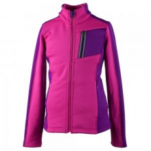 Gina Fleece Jacket Girls', Electric Pink, S by Obermeyer