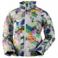 Kat Insulator Jacket Girls', Chevron Floral, L by Obermeyer