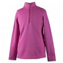 Solace 150 wt US Turtleneck Mid-Layer Girls', Hot Pink, L by Obermeyer