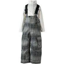 Volt Suspender Pant - Boy's - Closeout: Basalt Ombre Plaid, 7 by Obermeyer