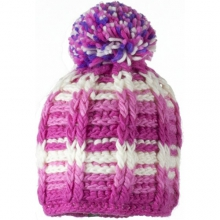 Ski School Knit Hat - Girl's - Closeout: Pink, Small/Medium