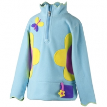 Gaga Fleece Top - Girl's: Aqua, Small