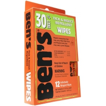 Ben's 30 Wipes 12/box by Adventure Medical Kits
