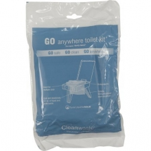 GO Anywhere Toilet Kit - 12 pack Wag Bag in San Antonio, TX
