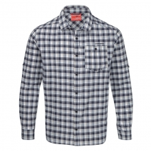 Mens InsectShield Tristan Long Sleeved Shirt - Closeout Dark Navy Check by Craghoppers