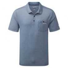 Mens NosiLife Gilles Short Sleeved Polo - Closeout Light Dusk Blue Marl