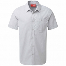 Mens InsectShield Henri Short Sleeved Shirt - Closeout Light Grey