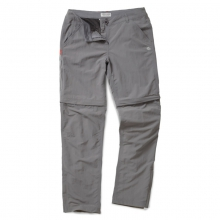 Womens Insect Shield Convertible Trousers - Closeout Platinum