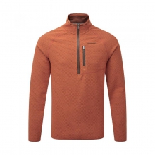 Mens Liston Half Zip Burnt Orange Large