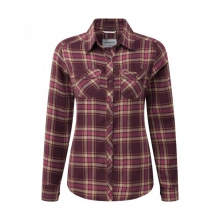 Womens Valemont Shirt Dark Rioja Red Check 08 by Craghoppers