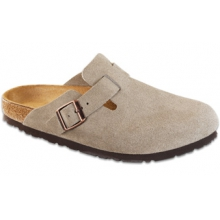 Boston Taupe Suede Soft Footbed by Birkenstock