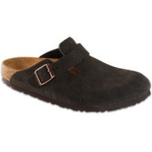 Boston Soft Footbed Mocha Suede by Birkenstock