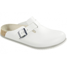 Boston White Leather Super Grip by Birkenstock