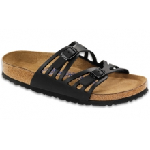 Granada Soft Footbed Black Oiled Leather by Birkenstock