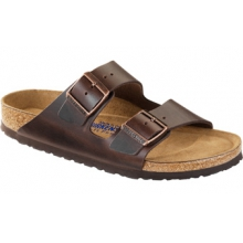 Arizona Soft Footbed Brown Amalfi Leather by Birkenstock