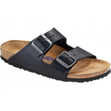 Arizona Soft Footbed Black Oiled Leather by Birkenstock