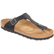 Gizeh Black Oiled Leather by Birkenstock