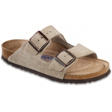 Arizona Taupe Suede Soft Footbed by Birkenstock
