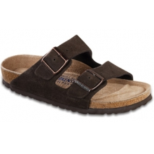 Arizona Soft Footbed Mocha Suede by Birkenstock