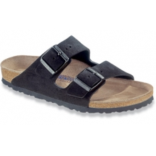 Arizona Soft Footbed Black Suede by Birkenstock