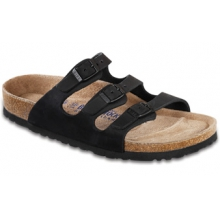 Florida Black Nubuck Soft Footbed