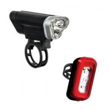 Local 75 Front & 15 Rear Cycling Light Set - Black by Blackburn Design
