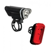 Local 50 Front & 10 Rear Cycling Light Set - Black by Blackburn Design