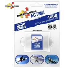 16GB SDHC Class 10 Memory Card - In Size: 16G by Maxflash