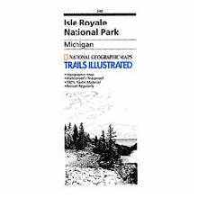 240 Isle Royale National Park Map by National Geographic: Trails Illustrated