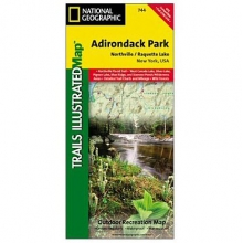 Adirondack Park - Northville / Raquette Lake Trail Map by National Geographic: Trails Illustrated