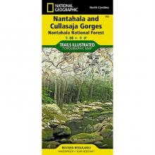 Nantahala and Cullasaja Gorges-Nantahala Map - by National Geographic: Trails Illustrated