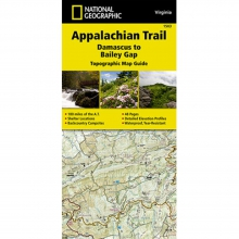Appalachian Trail-Damascus to Bailey Gap Map -