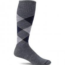 Argyle Circulator Sock Mens - Black L/XL by Sockwell