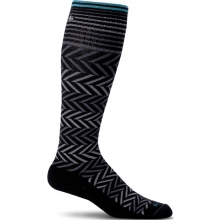 Circulator Chevron Sock Womens - Black M/L by Sockwell