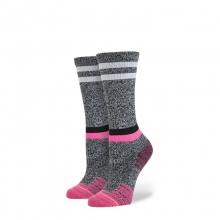 Womens Burn Crew Grey Heather Medium by Stance