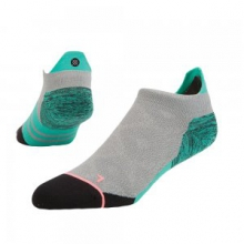 Restless Running Sock Women's, Heather Grey, M by Stance