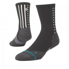 Hot Fuse Running Sock Men's, Black, L by Stance