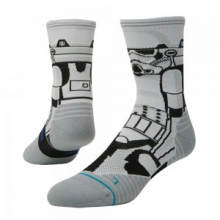 Storm Trooper Running Sock Men's, White, L by Stance