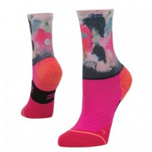 Painted Crew Running Sock Women's, Pink, S by Stance