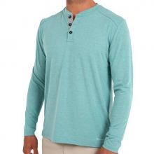 Men's Bamboo Henley by Free Fly Apparel in Ellicottville Ny