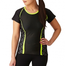 Women's  High Vis Lumenex Color Block Jersey by Moxie Cycling