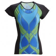 Women's Summit Color Block Tee Jersey by Moxie Cycling