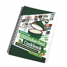 EGGtoberfest Cookbook, 112 pages, spiral bound