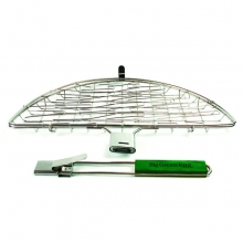 Stainless Flexi-Grilling Basket with detachable handle by Big Green Egg