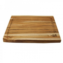Teak Cutting Board w/ LaserEtch Logo, 19 in