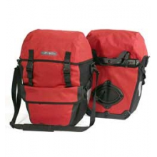 Bike-Packer Plus Rear Waterproof Pannier - Red/Black