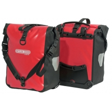 - Front-Roller Classic Pannier - Red / Black
