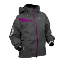 - Air 2.5 Ply L/S Full Zip Jacket Women - X-Small - Charcoal/Violet by Level Six